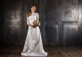 Abito sposa in mikado
